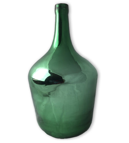 Vintage Glass Demijohn, Green