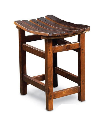 Reclaimed Wine Barrel Tasting Stool