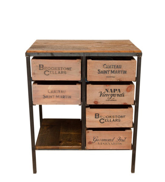Vintage Wine Crate Island Table