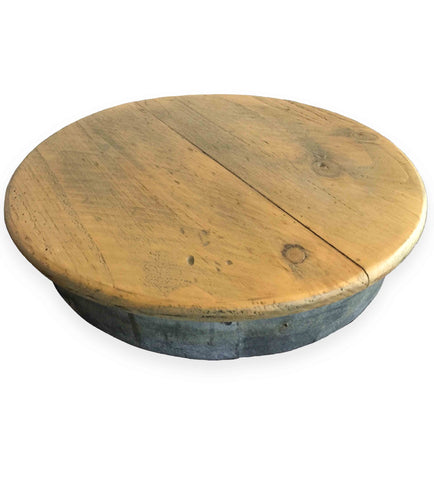 Farmhouse Lazy Susan from Wine Barrels, 14-Inches