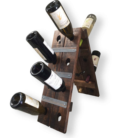 Tabletop 16-Bottle Riddling Wine Rack from Wine Barrel Wood