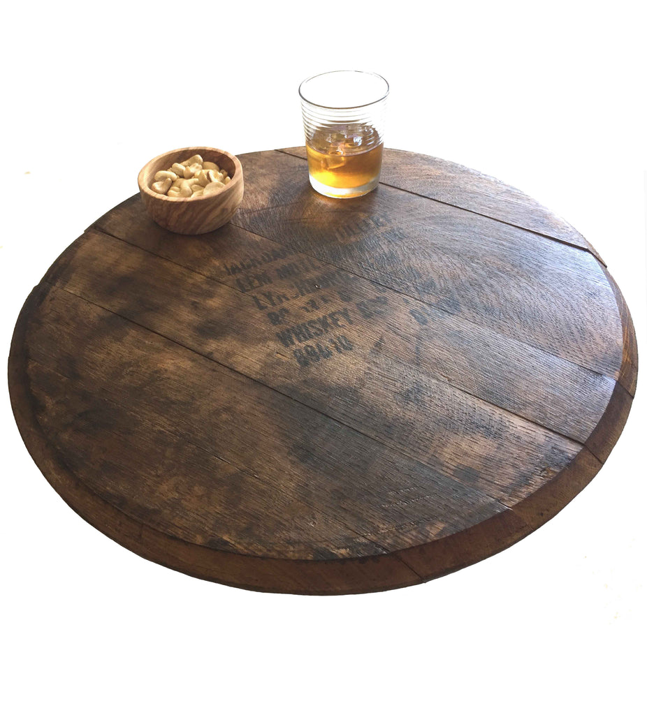Vintage Jack Daniels Whiskey Barrel Lazy Susan Rustic Wall Co