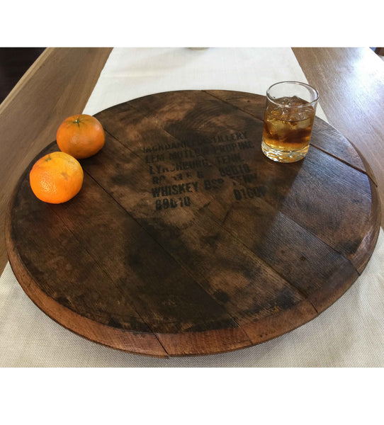 Vintage lazy susan, Vintage Jack Daniels Whiskey Bourbon Barrel Lazy Susan, 21-Inches by Rustic Wall Co.