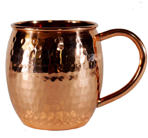Hammered 100% Copper 16oz Mug