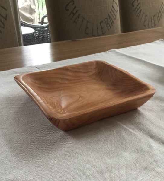 Hand Carved Root Wood Serving Plate
