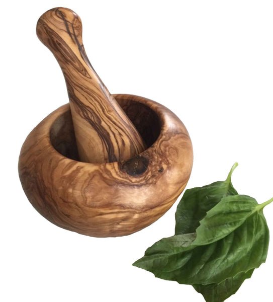 Olive Wood Herb, Seed & Pill Grinder Mortar and Pestle