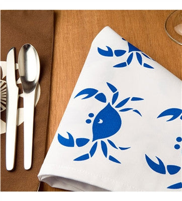 Blue Crab 100% Eco-friendly Napkins, Set of 4