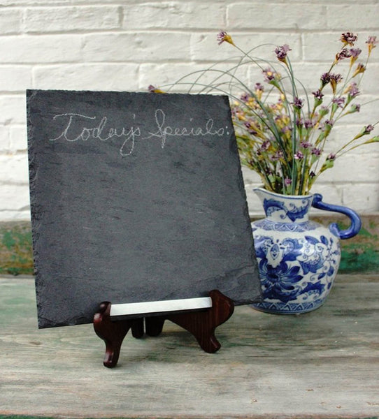 Natural Brazilian Black Slate Serving Platter