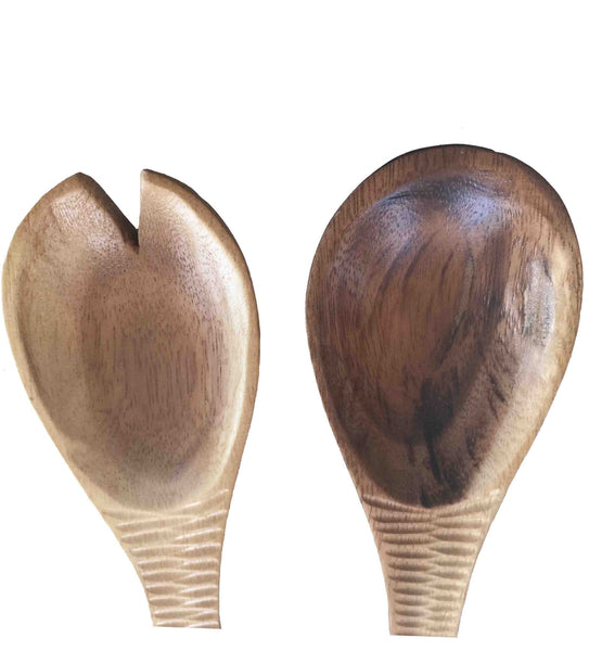 Natural Acacia Wood Serving Set