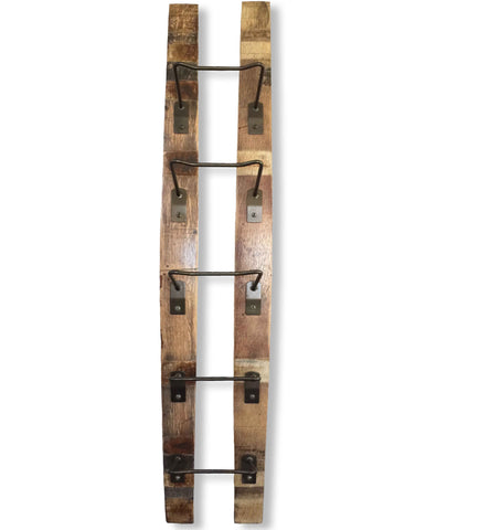 Cépage Wine Barrel Hanging Wine Rack, 5-Bottle Display