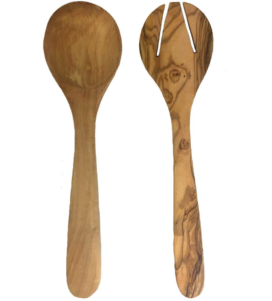 Sustainable Olive Wood Server Set