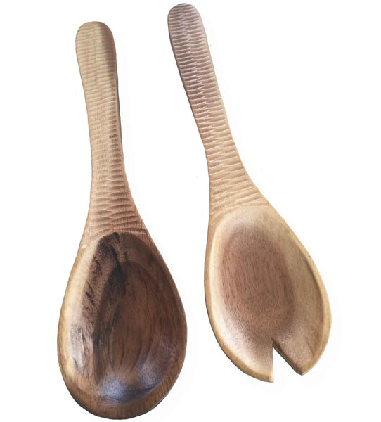 Natural Acacia Wood Salad Serving Set