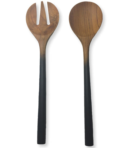 Sustainable Teak Ombre Serving Set, 13-Inches