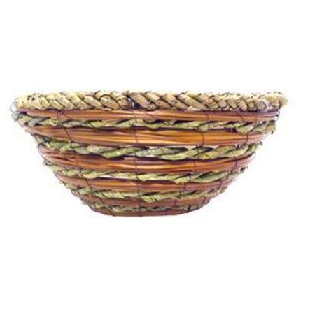 Palm Leaf Rope Hanging Basket