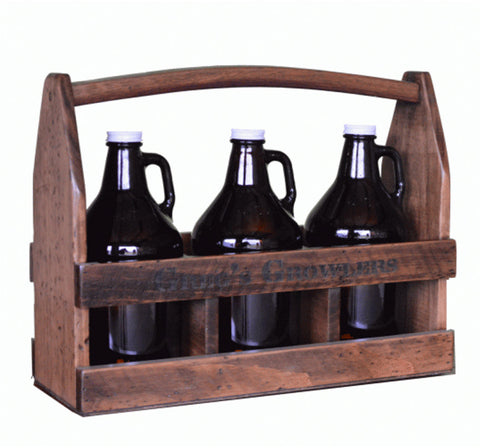 Personalized 3-Growler Beer Caddy