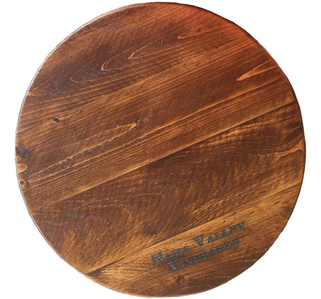 Personalized Wine Barrel Lazy Susan 20 Inches Rustic Wall Co