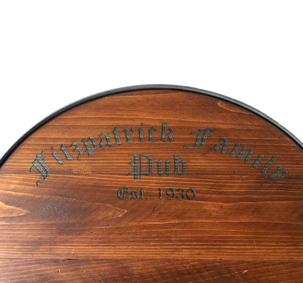 Personalized Reclaimed Wine Barrel Tray