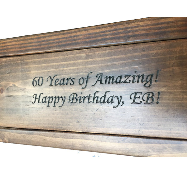 Personalized Wine Bottle Reclaimed Wood Gift Box