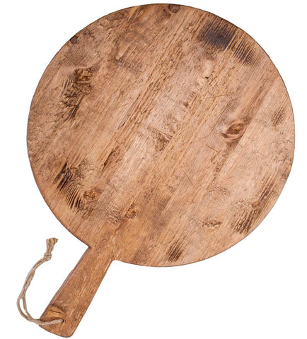 "Reclaimed Wood Pizza Board, Round Large 19"" Dia."