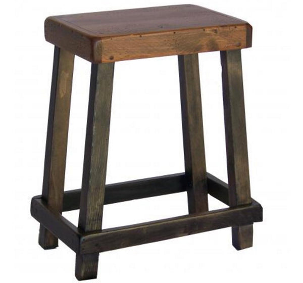 Reclaimed Barn Wood Chef's Counter Stool