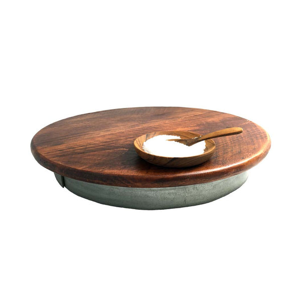 Petite Wine Barrel Lazy Susan, 14-Inches