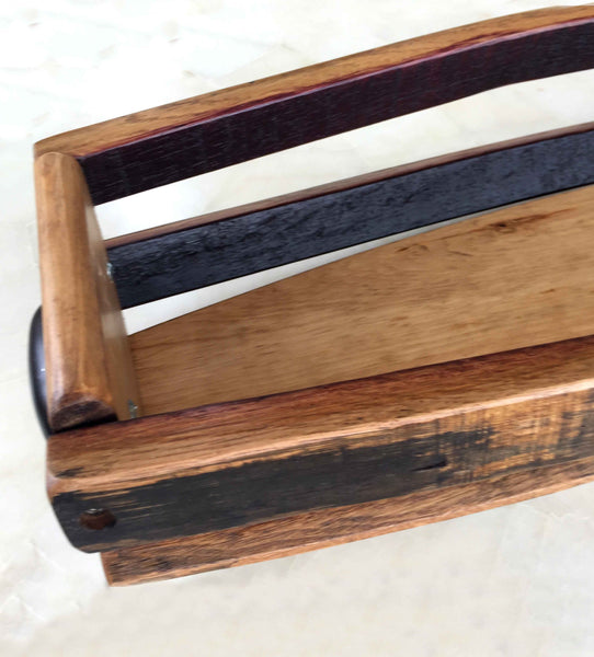 Reclaimed Wine Barrel Table Basket - Extra Large