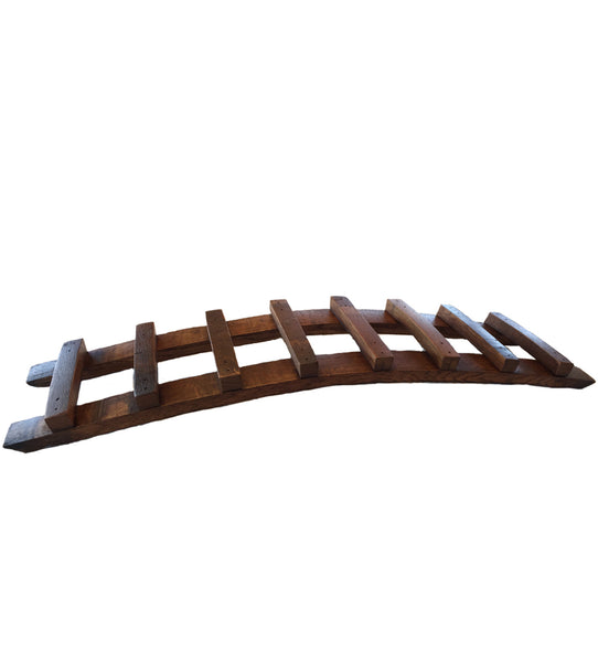 Wine Barrel Stave Tabletop 7-Bottle Wine Rack, Rustic Wall Co.