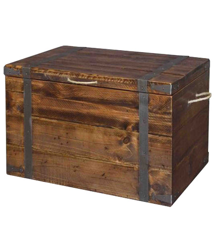 Captain's Wooden Chest from Reclaimed Timber