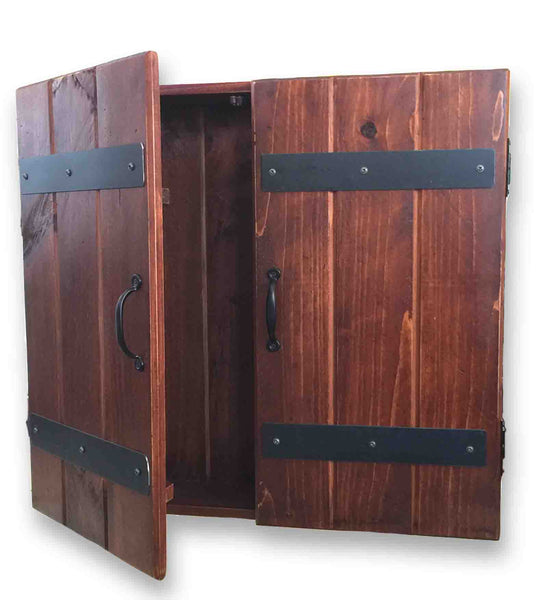 Reclaimed Wood Dart Board Cabinet (25 x 25)
