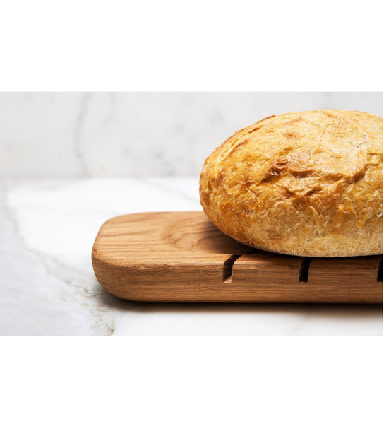 Reclaimed Wood Farmhouse Baguette Slicing Board, 28-Inches