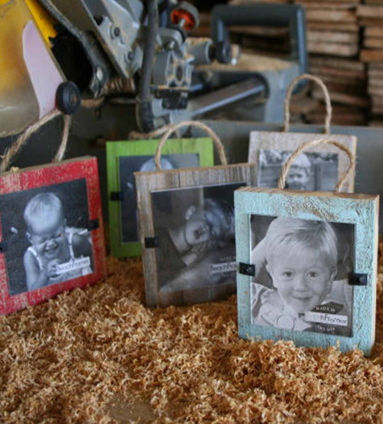 Mini Reclaimed Wood Frames, Multi-Colors (4 pack)
