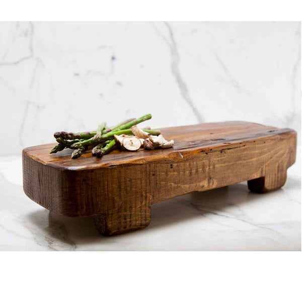 Reclaimed Wood Rectangle Trivet and Serving Board, Medium