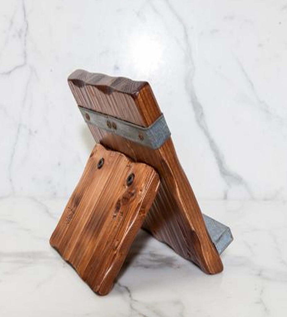 ... Reclaimed Wood Tablet and Cookbook Stand ... - Reclaimed Wood Tablet Kitchen Stand Rustic Wall Co.
