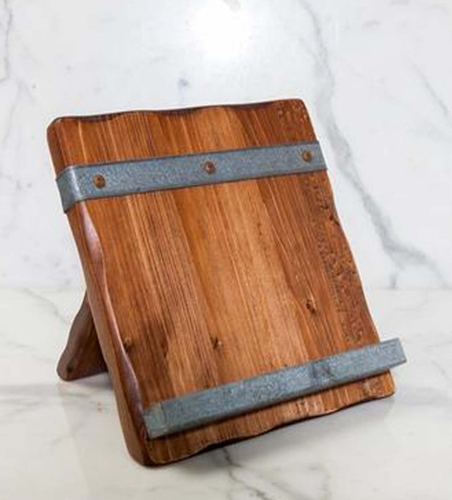... Reclaimed Wood Tablet and Cookbook Stand - Reclaimed Wood Tablet Kitchen Stand Rustic Wall Co.