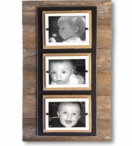 Reclaimed Wood Long Photo Frame, 23x15