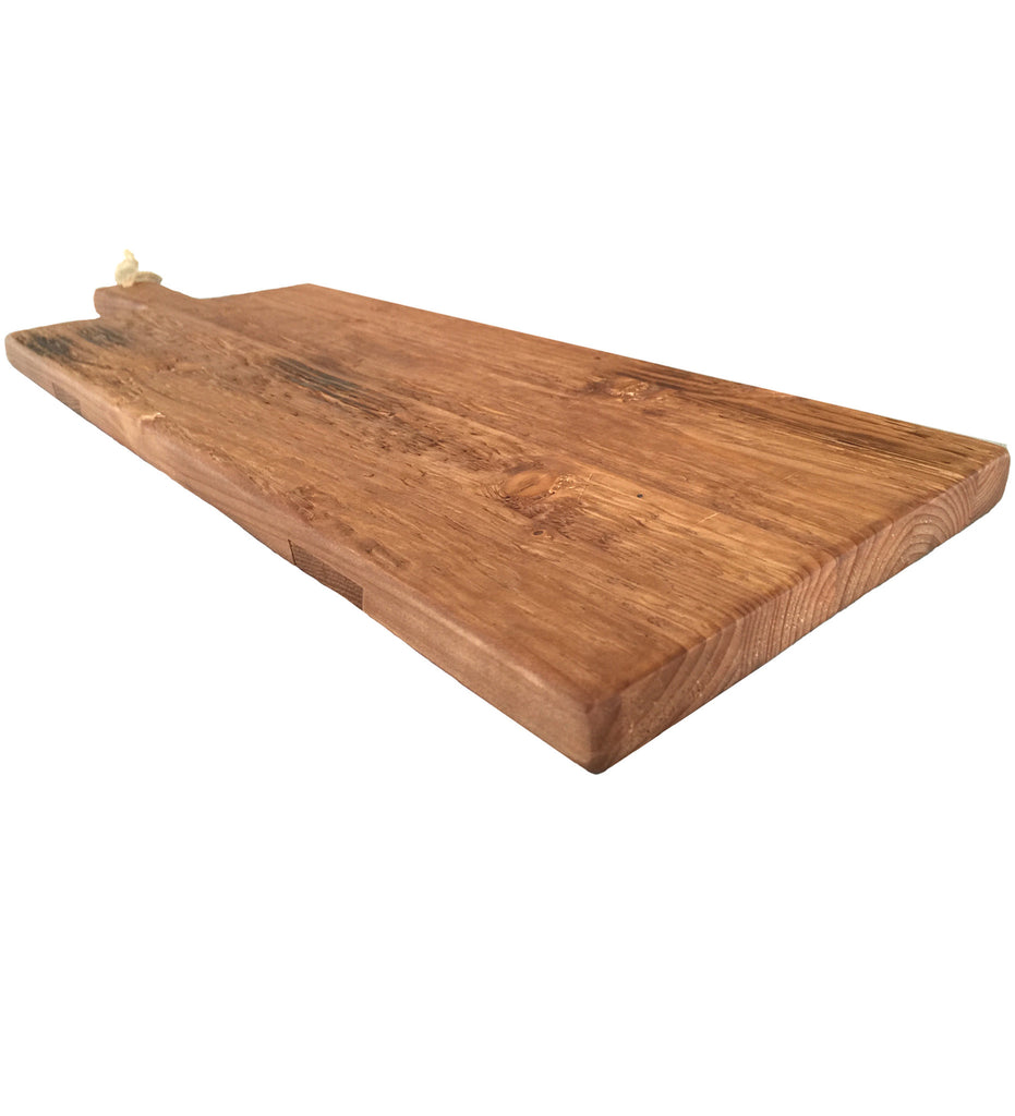 Reclaimed wood pizza flatbread serving board rustic for Recycled wood board