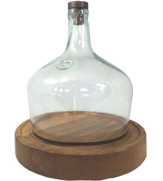 Recycled Glass Demijohn Cloche