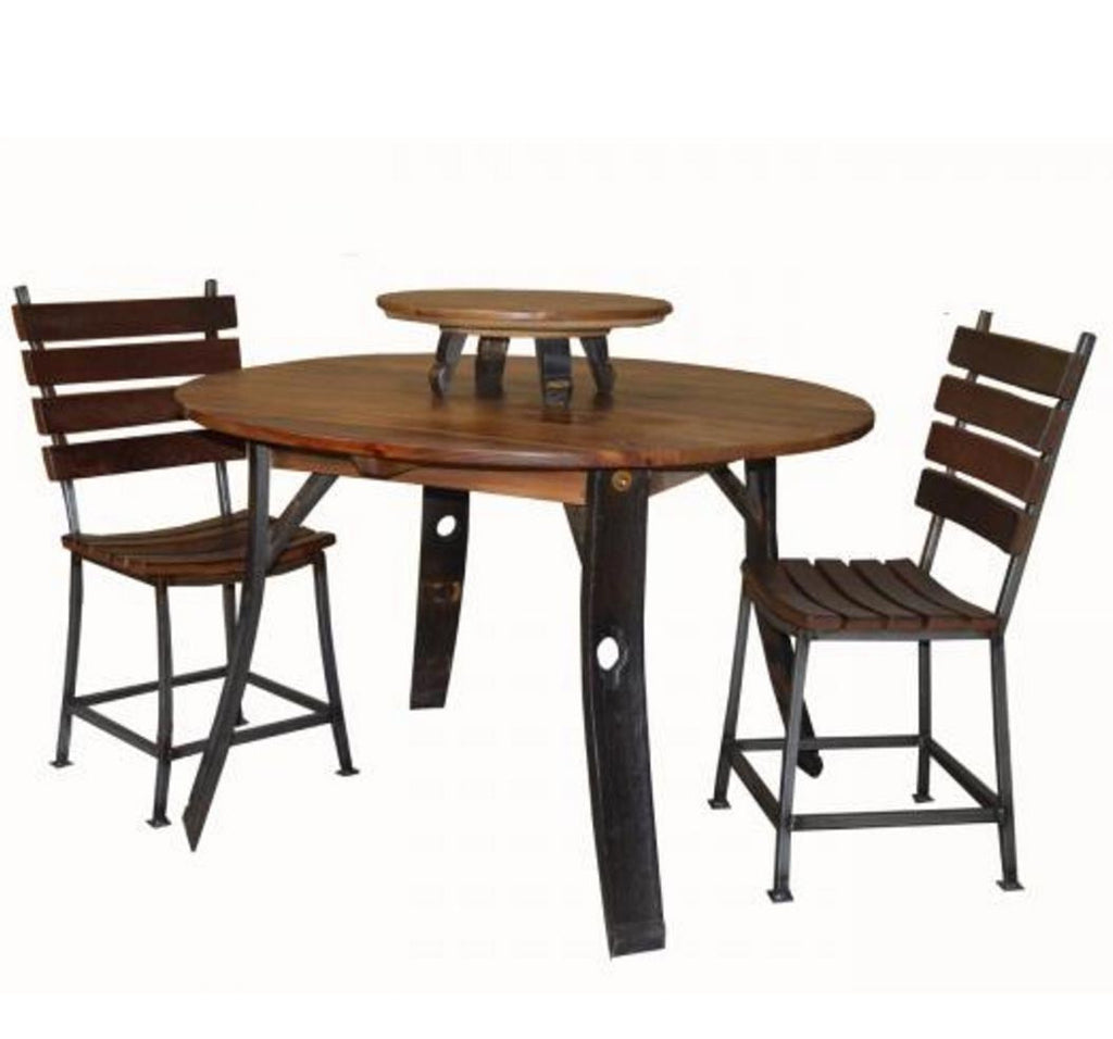 Round Stave Leg Dining Table