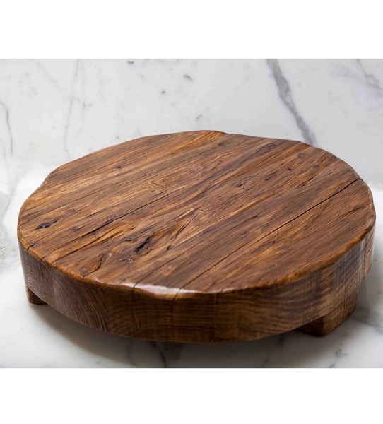 Round Wood Trivet and Serving Board made from Reclaimed Wood (Large)