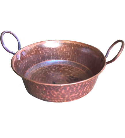 100% Copper Bread Basket and Serving Bowl