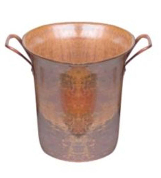 Rustic Hammered Copper Wine Bucket