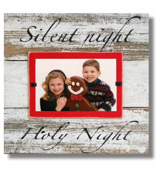 "Christmas Photo Frame ""Silent Night Holy Night"" (11 x 11)"