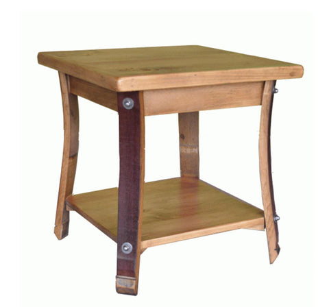 Square Stave Leg End Table