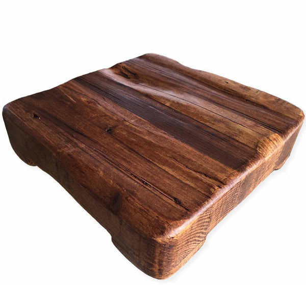 Reclaimed Wood Square Trivet and Serving Board, Medium