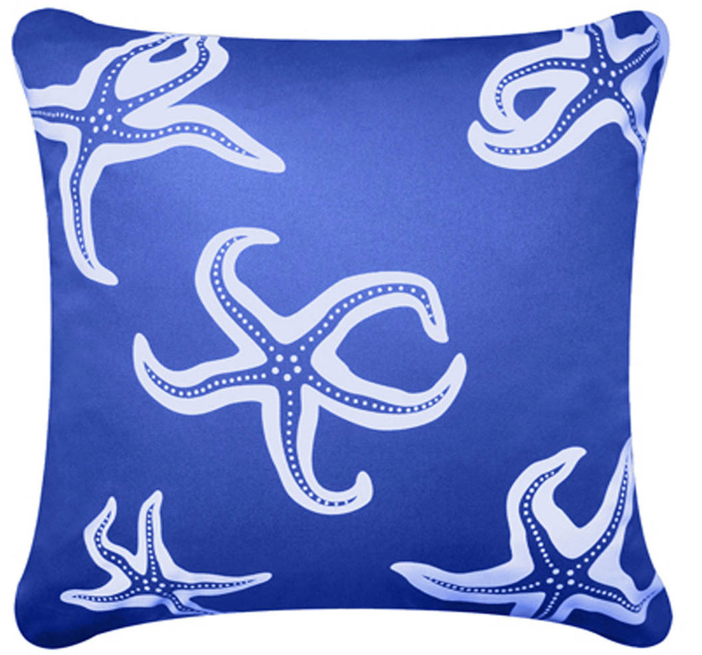Starfish Decorative Modern Organic Cotton Square Throw Pillow Cover (18 x 18)