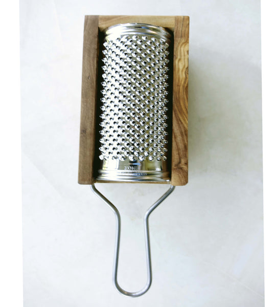 Italian Cheese Grater and Shredder from Olive Wood