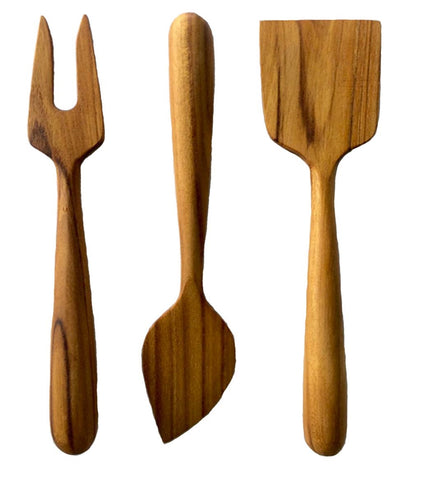 Teak Cheese Serving Utensil Set