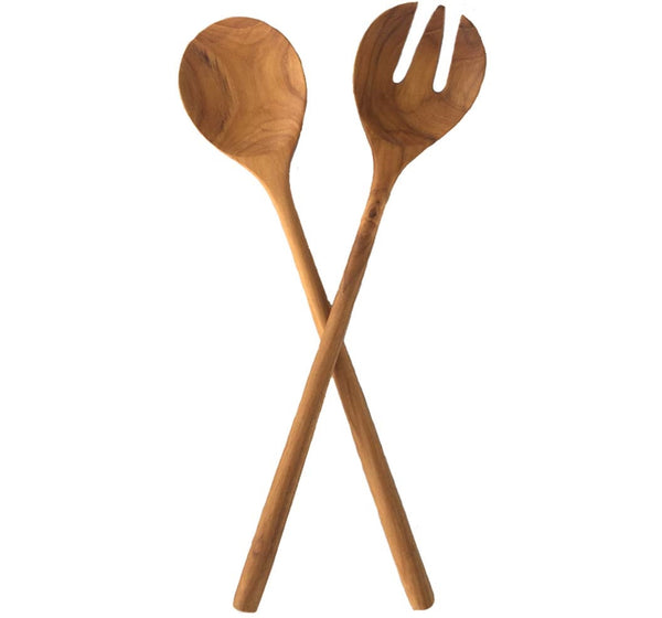 Sustainable Teak Salad Server Set