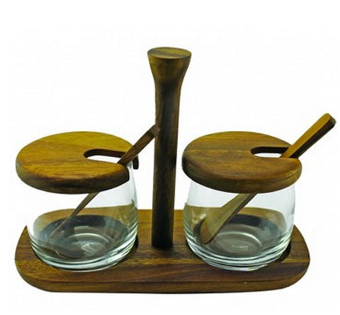 Acacia Wood Sauce & Spice Dispenser