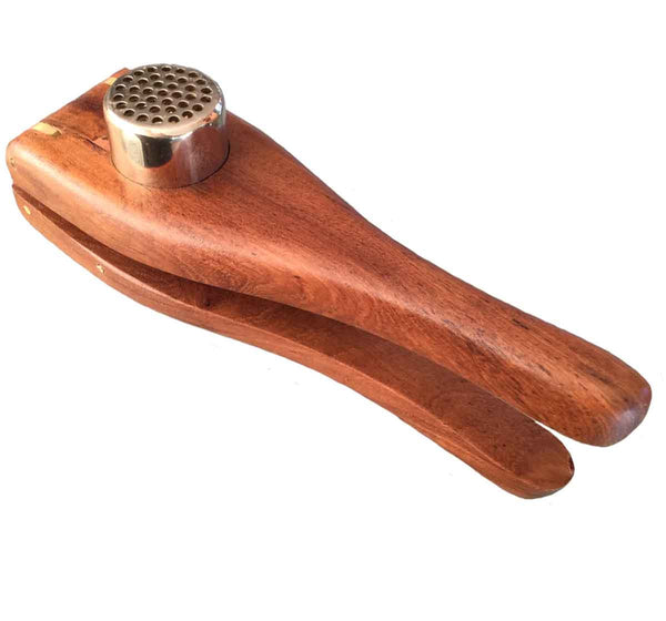 Sustainable Teak Garlic Press